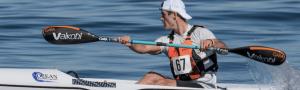 Austin Kieffer with paddle
