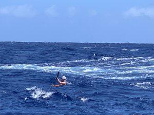 Molokai boat wake and chop